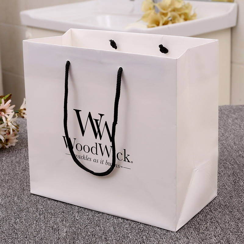 white cardboard custom yiwu factory paper bag