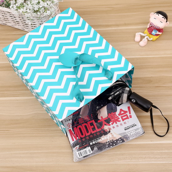 classical stripe with tag paper bag