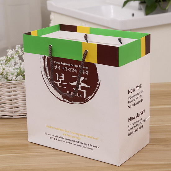knoted nice new design Korean paper bag title=
