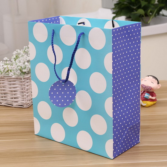 hot sale classical deisgn dot  paper bag
